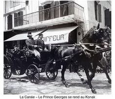 Χανιά. 1900 περίπου. Φωτογραφικό Αρχείο του συνταγματάρχη Émile Honoré Destelle. Δημοσίευση Ελένης Σημαντήρη. Prince Georges, Horses, History, Occupation, Animals, Pictures, Historia, Animales, Animaux