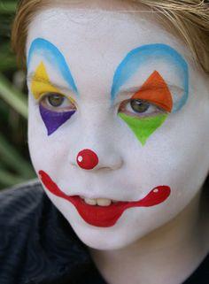 como hacer un maquillaje de payaso para Halloween