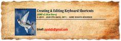 How to create & edit keyboard shortcuts in GIMP v2.10.xx.