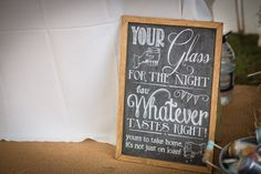 Your Glass For the Night for Whatever by RusticWeddingGraphic