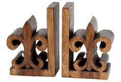 Pair of Fleur De Lis Bookends on OneKingsLane.com