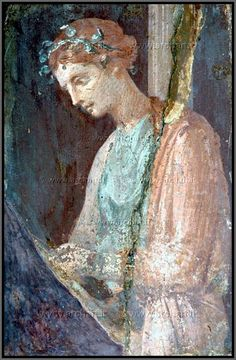 Fresco of an Etruscan Woman, Pompeii Ancient Pompeii, Pompeii And Herculaneum, Ancient History, Art History, Décor Antique, Roman Art, Carthage, Classical Art, Mural Painting
