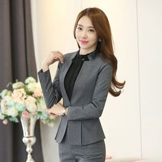 elegant formal office business women suit blazer jacket and pant for work wear  | Clothing, Shoes & Accessories, Women's Clothing, Suits & Blazers | eBay!