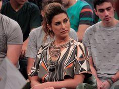Fernanda Paes Leme participa da gravação do programa 'Altas Horas' (Foto: Marcos Mazini/Gshow)