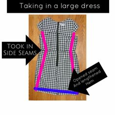 Refashion – taking in a dress