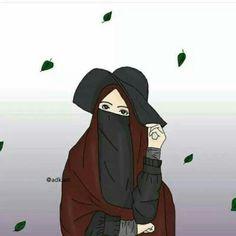Cute Cartoon Girl, Cute Love Cartoons, Cartoon Art, Muslim Pictures, Moslem, Hijab Drawing, Islamic Cartoon, Hijab Cartoon, Muslim Hijab