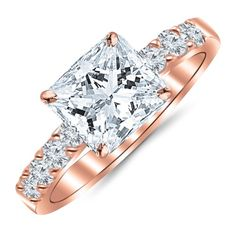 1.10 Carat Princess Cut/Shape 14K Rose Gold Classic Prong... https://makelifeeasier123.blogspot.com/p/jewelry.html