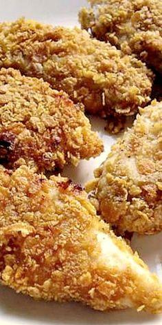 Amish Corn Flake Crusted Chicken ❊