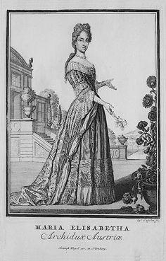 1703 Maria Elisabeth Archiduchess of Austria by Christoph Weigel the Elder