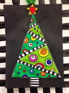 Christmas is coming so I hope you have trimmed your tree. We did these in after school art programming with the 4-8th graders. We painted ...