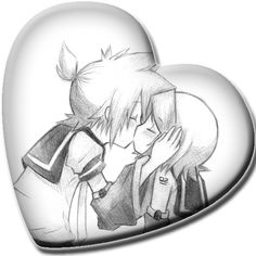 Len and Rin kissing!