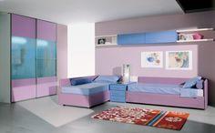 BADROOM - cameretta con letto imbottito con contenitore e secondo letto