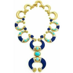@diamondgirl1975.   No words for this carved lapislazuli cabochon #turquoise diamond gold and platinum necklace by @davidwebbjewels