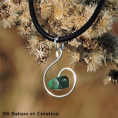 Necklace pendant simple nature malachite, healing crystals and stones, natural malachite jewelry, simple necklace, nature pendant www.etsy.com/shop/DSNatureetCreation