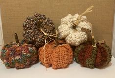 Ravelry: Autumn Bean Stitch Pumpkin pattern by Little Leaf Crochet: Amber Huot Thanksgiving Crochet, Crochet Fall, Holiday Crochet, Free Crochet, Crochet Pumpkin Pattern, Halloween Crochet Patterns, Easy Fall Crafts, Crafts For Kids To Make, Crochet Leaves