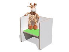 Stühle - Kinder Wendehocker – weiß mit grüner Sitzfläche - ein Designerstück von…