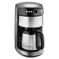Start your morning off right, or top off your evening meal with a fresh cup of coffee from the Contour Silver 12-cup Thermal Coffee Maker from KitchenAid. This coffee maker offers a variable brew strength selector that provides the perfect cup.
