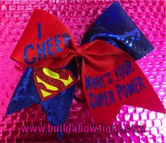 What's Your Super Power: Rhinestone Cheer Bows, Sequin, Glitter, Monogram & Custom Cheer Bows