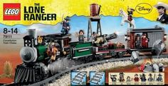 Lone Ranger Lego train-- picked this up for the boy's birthday for half price.  Who cares that I'll have to store it for 11 months-- half price is nearly unheard of-- especially for a big set like this!  He's going to FLIP!  (He adores trains)