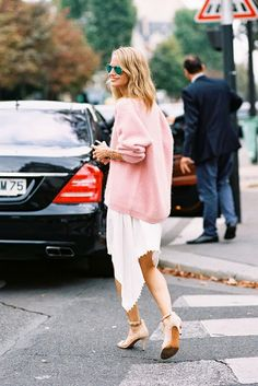 slouchy pink