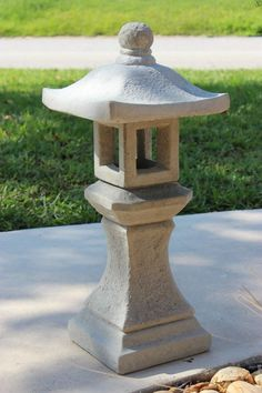 concrete japanese lantern - Google Search