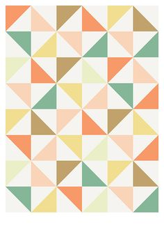 Abstract geometric shape poster
