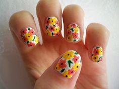 Sprint nails : cute flower nails : flowers