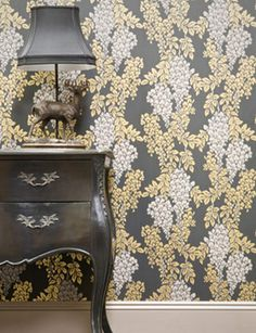 Wisteria wallpaper (BP2206) from the Grace & Favour Collection by Farrow and Ball. £98