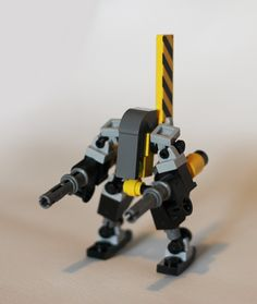 Wasp1 - Mechs built from Legos For the game; Mobile Frame Zero.  Wasp-01 (variant based on The Conscript: Designed by: Soren.) By: DrWatsman.  Conscript   instructions here: http://thor.divnull.com/pub/mf0/soren-conscript.pdf