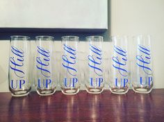 Stemless champagne flutes by ChampagneSociety on Etsy https://www.etsy.com/listing/490855979/stemless-champagne-flutes
