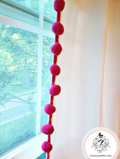 DIY: IKEA Hacked Pom-Pom Trimmed Curtains...