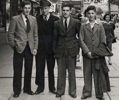 Men's style of the 1940s