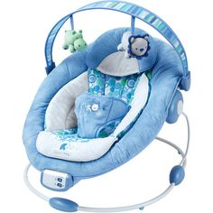 Bright Starts Comfort Harmony Cradling Bouncer Blue Pebbles Walmart Com Bright Starts Baby Baby Bouncer