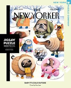 New York Puzzle Company - New Yorker Baby It's Cold Outside - 1000 Piece Jigsaw Puzzle, http://www.amazon.com/dp/B004WLEH8E/ref=cm_sw_r_pi_awdm_x_PD-Rxb3YWW259