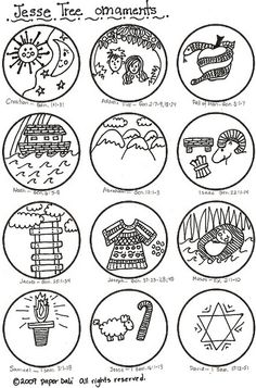 26 Free Clip Art Jesse Tree Advent Patterns Use For Coloring During - Jesse-tree-coloring-pages