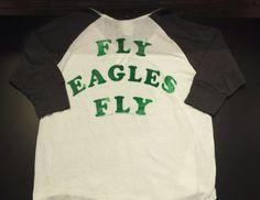 "Junk Food-- Philadelphia Eagles Tee ""fly eagles fly"" [back] #pileggiboutique"