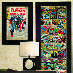 Frame your comic decals to create truly one-of-a-kind wall decor. #WeekendProject