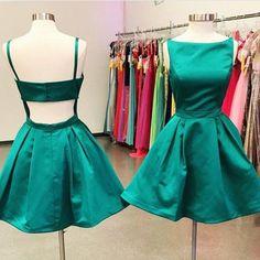 Fashion Satin Homecoming Dress Short Graduation Dresses Dance Dress Sweet 16 Dress SW119