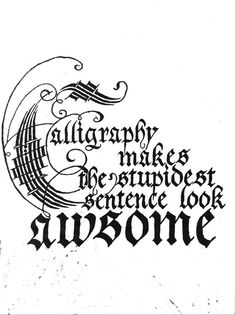Caligrafia by Maria Forte, via Behance.In Calligraphy a word misspelled is a tragedy! Calligraphy Doodles, Calligraphy Handwriting, Calligraphy Quotes, Calligraphy Letters, Penmanship, Typography Letters, Gothic Lettering, Script Lettering, Lettering Design