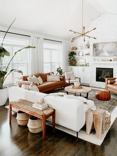 Boho Living Room, Cozy Living Rooms, Home And Living, Living Room Furniture, Living Spaces, Modern Living Room Decor, Earthy Living Room, Modern Minimalist Living Room, Rug Sizes Living Room