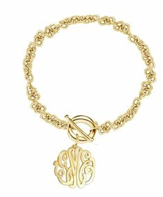<3<3 Monogram Bracelet, Monogram Jewelry, Monogram Initials, Fashion Accessories, Fashion Jewelry, Jewelry Accessories, Monograms, Armband, Jewelery