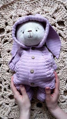 Crochet Teddy Bear Pattern, Crochet Patterns Amigurumi, Crochet Dolls, Stuffed Toys Patterns, Single Crochet, Crochet Projects, Job Description, Tutorial Crochet, Pictures