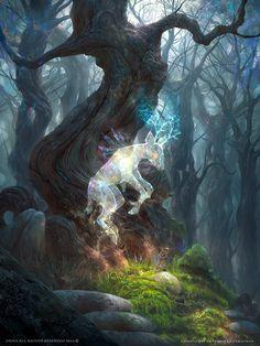 Cernunnos, Forest Spirit Yggdra by trejoeeee