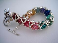 beaded beads - pretty!  I think I'll figure out how to make this and make a tuturial