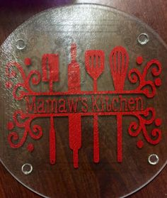 This listing is for a 7.75in by 7.75in cutting board! Picture is watermarked with my logo. Split #utensils with personalization is made with permanent vinyl. Can be used for... #etsy #leftbraincreations #halloween2016 #shannarabon #shannacorwin #fallsale2016 #tealpumpkinproject #teal2016 #allergybags #allergyalertbags #kitchen ➡️ http://jto.li/UDqD8