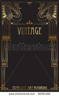 Here's the download. Art Nouveau Frame Stock Photos, Images, & Pictures   Shutterstock