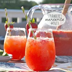 Strawberry Margarita Punch - The Cookie Rookie