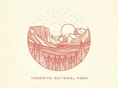 Another illustration for Sevenly to help raise money for National Parks. this is tunnel view, one of the most famous views of Yosemite Valley. From here you can see El Capitan and Bridalveil Fall r...
