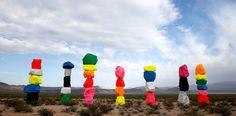 Seven Magic Mountains in the Desert