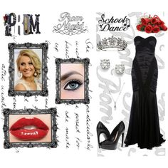 """""""Dark Prom Queen"""" by supercalifragilistica on Polyvore"""